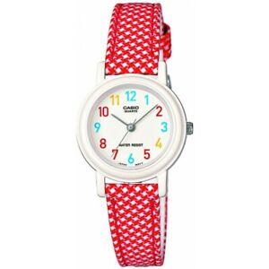 Children Kids Teen Casio Watch LQ-139LB-4B Red and White Alarm