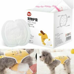 30PCS Dog Disposable Nappy Pads Pet Pad For Sanitary Diapers Extra Absorbency