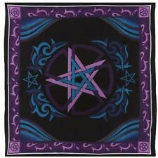 Pentacle Pentagram Star Altar Table Cloth / Celtic Wall Hanging 100cm