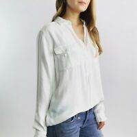 Joie Soft White Half Button Women's Top Size Small
