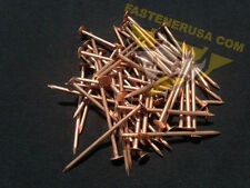 "3"" Smooth Plain Shank Solid Copper Roofing Nails 10 gauge (50 pcs)"