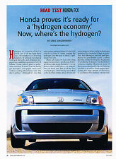 2006 Honda FCX Hydrogen Original Car Review Print Article J352