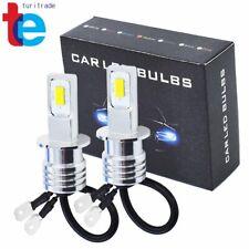 2x H3 LED Fog Lights Conversion Bulbs Kit 35W 4000LM Super Bright 3000K Yellow
