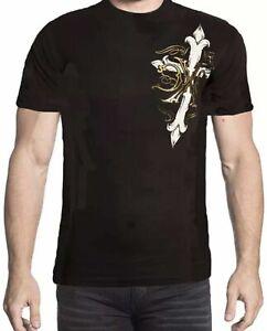 Xtreme Couture Affliction Men's T-Shirt ANNUIT Black/White Biker S-4XL