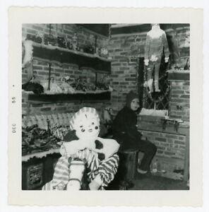Antique Photo Creepy Halloween Costume Clown Mask Holiday Weird Children Old 65
