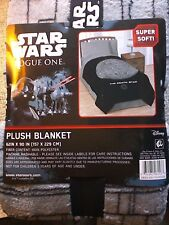 "Star Wars Plush Blanket Classic Death Star Oversized Queen 62""x90"""