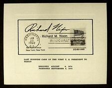 Last Business Card Of First US President To Resign Richard M Nixon With Envelope