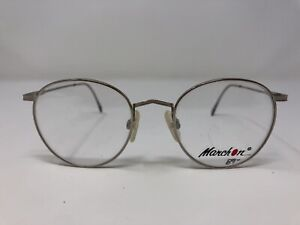 Marchon Eyeglasses Frame Japan WALL STREET CHROME 48-19-135 Silver Full Rim CU67