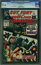 CGC (MARVEL) SGT.FURY, 53  NM+ 9.6 1968 NICK FURY /AVENGERS MASS COPY