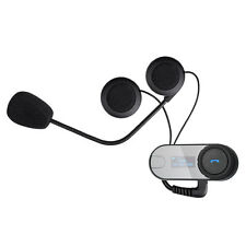 2 X 800M BT Interphone Intercomunicador Auriculares Bluetooth Moto Casco de Bicicleta Comunicaciones
