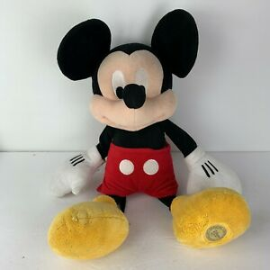 """The Disney Store 20"""" Plush Mickey Mouse Stuffed Animal Toy Stamped"""