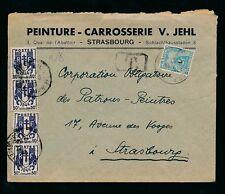 FRANCE POSTAGE DUE 1946 STRASBOURG LOCAL 2F + 2F
