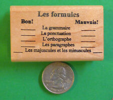 Writing (Conventions) - French Teacher's Rubber Stamp