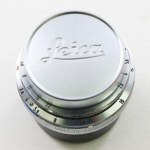 NEW Leica Silver 42mm Front Lens Cap for Leitz M Summilux-M Summicron-M 50/2.0