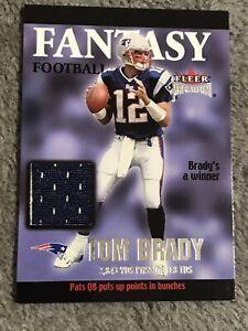 2002 Fleer Premium Tom Brady Fantasy Football AUTHENTIC GAME WORN JERSEY Relic