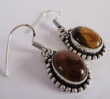 Lab-Created/Cultured Drop/Dangle Oval Costume Earrings
