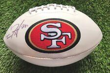 Carlos Hyde Autographed 49er's Logo Football   JSA COA