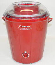 Cuisinart ICE25R Classic Frozen Yogurt Ice Cream & Sorbet Maker Red Churn 1.5 Qt