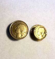 Boutons De Manchette  Formée De Monnaie Française Années 50