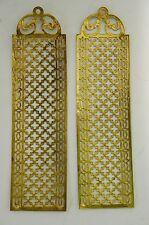 2- Paire de Plaque Propreté Laiton/Bronze Serrure Porte Ancien Poigné Louis XVI