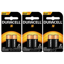 6 x N Duracell 1.5V Alkaline Batteries ( Medical, LR1, E90, MN9100 )