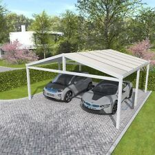 doppelcarport komplettanlagen aus aluminium f r carports g nstig kaufen ebay. Black Bedroom Furniture Sets. Home Design Ideas