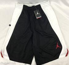 Nike Jordan MEN'S Athletic Basketball Loose Shorts Black White 820645 Size L