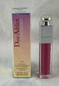Dior Addict Ultra-Gloss Reflect ~ 577 FUCHSIA POPLIN ~ 6 mL / .19 Oz New in Box