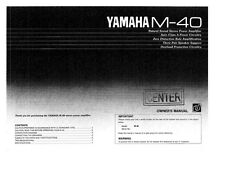 Yamaha M-40 Amplifier Owners Manual