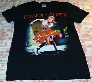 CYNDI LAUPER She's So Unusual 30th Anniversary Tour 2013 T-Shirt Small S Black