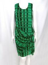 Spanner South Beach Plaid Wrap Dress Knee Length Green Black Sz 8 NWT $129