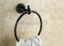 Wall Mounted Black Oil Rubbed Brass Bathroom Towel Ring Round lba825