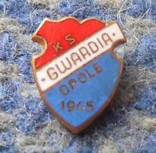 GWARDIA OPOLE POLAND HANDBALL JUDO CANOE KAYAK 1970's PIN BADGE