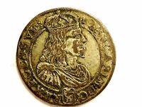 "1660 Poland Six (6) Groszy Silver ""John ll Casamir Vasa"" Coin"