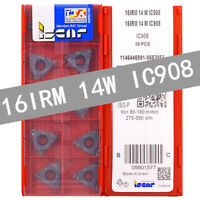 ISCAR 16IRM 14W IC908 Threaded blade Carbide Inserts 10Pcs