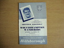1960/1 Sheffield Wednesday v Wolverhampton Wanderers Wolves - League Division 1