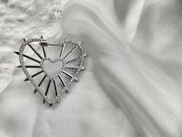 Apm Monaco ARCHI NOIR Mono Geometric Heart Earring With Spikes - Silver A$278