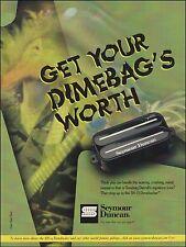 Dimebag Darrell Signature Seymour Duncan SH-13 Dimebucker guitar pickup 8x11 ad