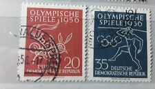 East DDR  1956 Olympic games fine used stamps