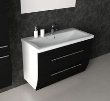 CG Bagno Seta 1000mm nero bianco doppio cassetto Vanity lavabo unità con lavello