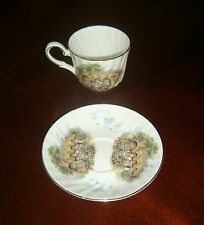 Heirloom English Cottage Bone China Tea Cup & Saucer, Made in England