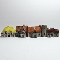 Lot of 4 Tey Pottery Terra Crafts Miniature Countryside Collection Houses