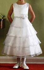 Girls White Holycommunion/Flowergirl  Dress, White