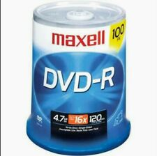 Maxell DVD-R 100PK Spindle 16X 4.7GB 120 Min - Data Video Music - 4 Hour Max NEW