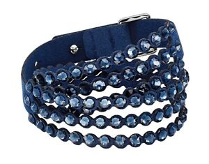 Swarovski Slake Power Collection Wraparound Bracelet, Blue Large M 40 CM New