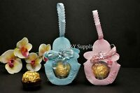 12 Fillable Baby Shower Pouches Baby Shower Favors Party Decoration Pink Blue