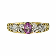 9 Carat Multi-Tone Gold Fine Gemstone Rings