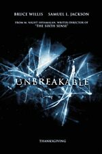 Unbreakable Movie Poster 2 Sided Original Advance 27x40 Bruce Willis