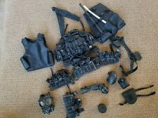 1/6 POLICE EQUIPMENT AND SNIPER VEST LOT FOR ACTION FIGURES.