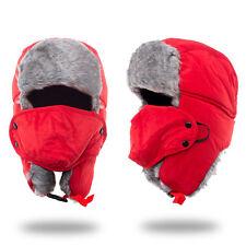 Men Women Winter Russian Hat Trooper Bomber Snow Ski Ushanka Waterproof Warm Hat